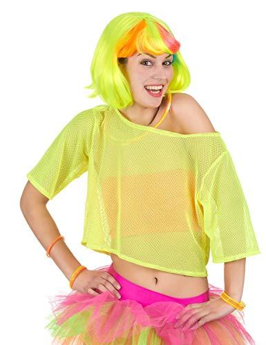Boland B.V. T-Shirt Fluo Jaune années 80 Femme