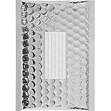 100 Enveloppes à Bulles Métalisées - 210X150 mm - C/0 - Qualité Premium (Silver)