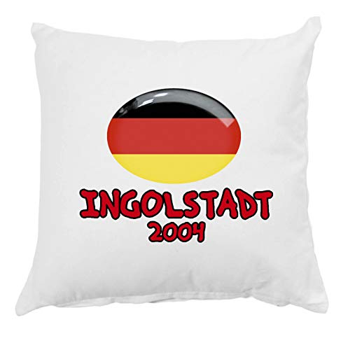 Tipolitografia Ghisleri Ingolstadt Kissen 2004 Deutschland mit Kissenbezug 40 x 40 cm, Bett 8 cm, mit Füllung aus weichem Polyester
