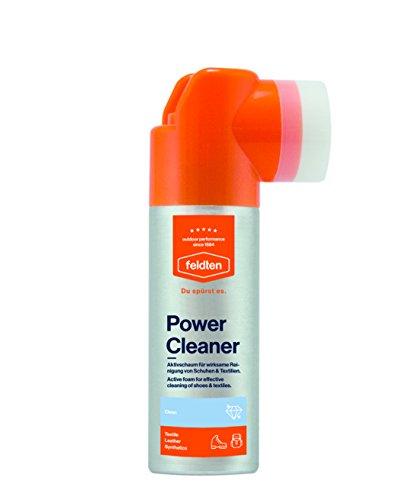 feldten Power Cleaner, Aktivschaum und Pflegecreme für Schuhe und Accessoires aus Leder und Textilien, 125 ml