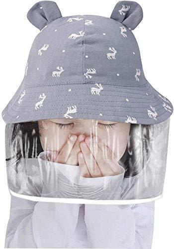 Sun del bebé sombrero de seguridad de los niños del sombrero careta facial desmontable UV Borrar Visor de ala ancha for el casquillo del cubo for Niños anti niños Baba prueba de salpicaduras Pescador