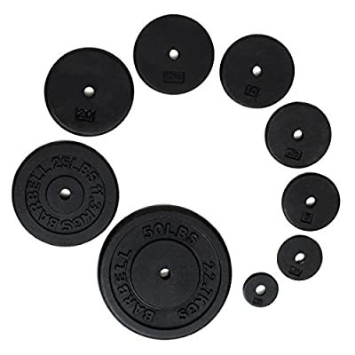 """Ader Standard 1"""" Hole Cast Iron Weight Plate (Black, 1.25-LB)"""