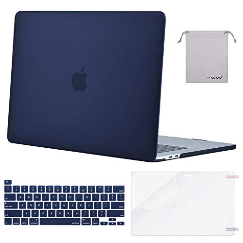 MOSISO MacBook Pro 16 inch Case 2019 Release A2141 with Touch Bar & Touch ID, Plastic Hard Shell Case&Keyboard Cover&Screen Protector&Storage Bag Compatible with MacBook Pro 16 inch, Navy Blue