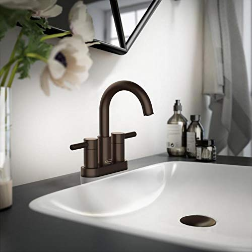 Jacuzzi Duncan 2-Handle 4-in Center-Set Water-Sense Bathroom Sink Faucet with Drain (Oil-Rubbed Bronze)