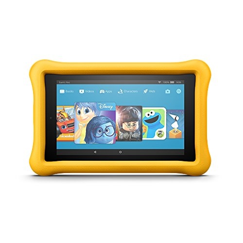 "Fire 7 Kids Edition Tablet, 7"" Display, 16 GB, Yellow Kid-Proof Case - (Previous Generation - 7th)"
