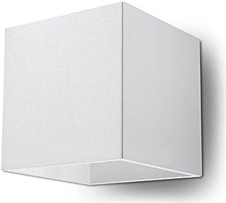 NOUVEAUTÉ ! Applique blanche pour cuisine et chambre – aluminium - SOLLUX QUAD 1 SL.0059 lampe murale carrée minimaliste L...