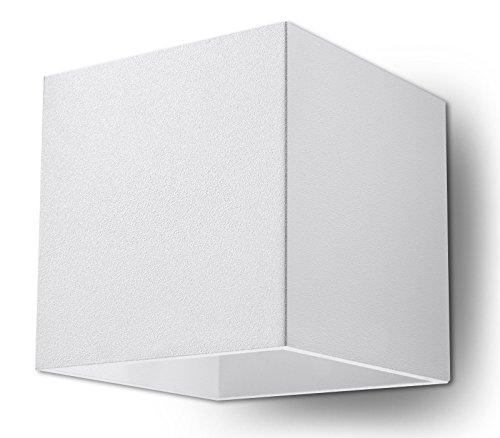 NOVEDAD! Aplique Blanco de cocina y habitación - aluminio - SOLLUX QUAD 1 SL.0059 lámpara mural Loft cuadrada, estilo minimalista, de luz única LED G-9 *** LÁMPARAS - Los precios más bajos en Amazon!