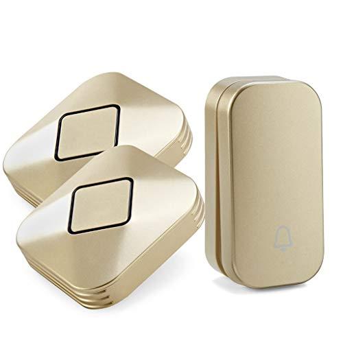 Xxw deurbel draadloze home afstandsbediening zonder batterij één voor twee aanhangers één belknop voor zelfvoeding