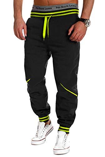 MT Styles Trainingshose Jogginghose MT-52 (Schwarz/Neon, M)