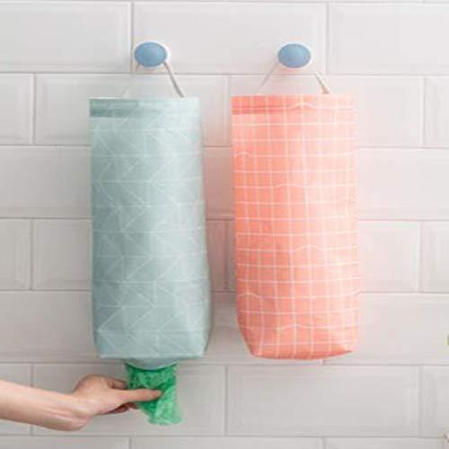 Qiajie 2 PCS Colgantes Bolsas de plástico Titular de Basura Bolsos del Organizador para el hogar Oficina Cocina