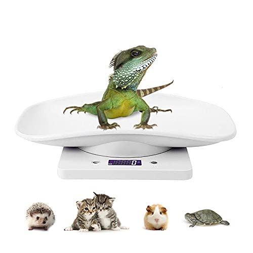 Digital Pet Scale LCD Electronic Weighing Scale, Kitchen Food Scale,Mini Precision Grams Weight Balance Scale with High Precision g/ml/oz/lb for Dog/Cat/ Hamster/Tortoise/ Lizard Small Animals