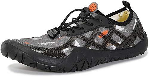 Gaatpot Escarpines de Surf para Mujer Hombre Zapatos de Playa Zapatos de Agua Barefoot Deporte Secado Rápido Yoga Aptitud Aire Libre Gris 40EU