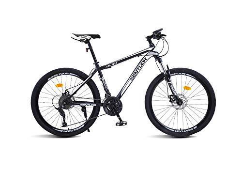 DGAGD Bicicleta de montaña de 26 Pulgadas, Bicicleta Ligera de Velocidad Variable, Rueda de Corte 40-En Blanco y Negro_21 velocidades