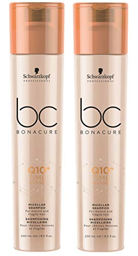 2er Schwarzkopf Professional Bonacure Q10 Time Restore Shampoo je 250 ml = 500 ml