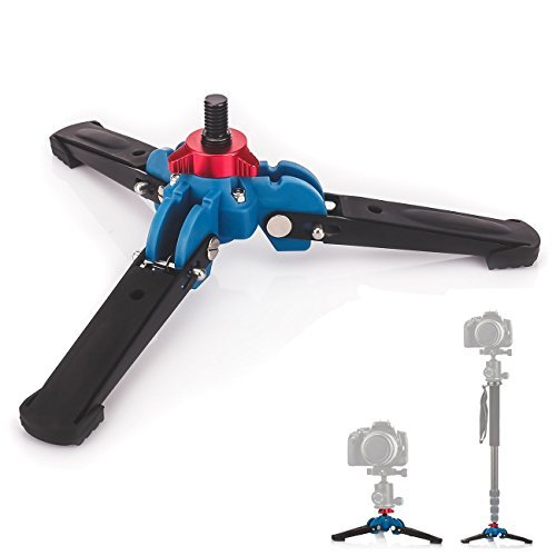 "TARION M1 3 Legs Feet DSLR Unipod Monopod Holder Support Stand Base 3/8"" Adapter"