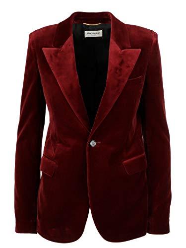 Luxury Fashion | Saint Laurent Dames 531511Y615W6166 Bordeaux Zijde Blazers | Seizoen Permanent