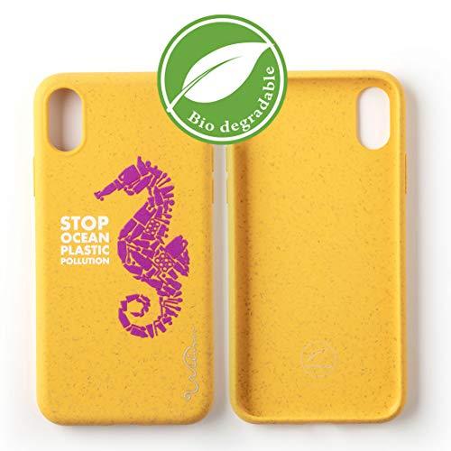 Funda Biodegradable Ecológica Wilma Compatible con iPhone XR, Stop Ocean Plastic Pollution, Sin Plástico, Sin Residuos, No Tóxica, Carcasa Totalmente Protectora - Caballo de Mar