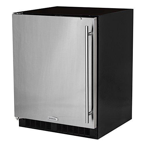 "Marvel MA24RAS1LS: 24"" All Refrigerator ADA Height (Marvel Low Profile) - Solid Stainless Steel Door, Left Hinge"