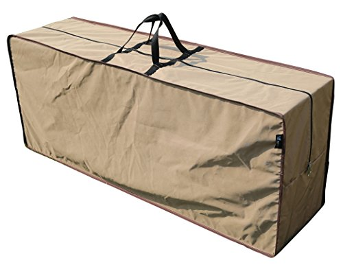 SORARA Rectangular Cushion Cover Storage Bag Outdoor Protective Zippered Patio Furniture Cover, Water Resistant, 79''L x 30''W x 24''H