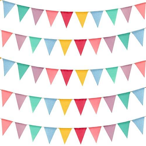 Bocotoer Driehoek Vlaggen Geïmiteerd Linnen Banner Supply Festival Decoratie 72 vlaggen 59 Voeten Multi kleuren