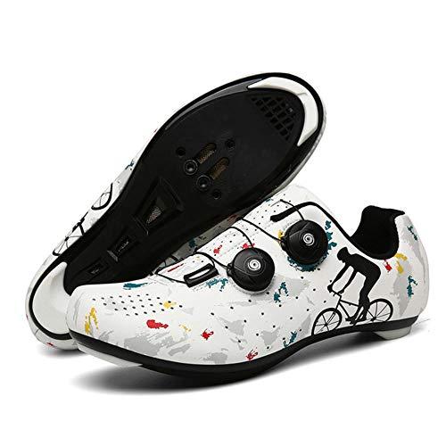 Zapatillas de Ciclismo para Bicicleta de Carretera para Hombre Zapatillas de Bicicleta de montaña con Tacos SPD Zapatillas de Ciclismo para Interior MTB Spin Zapatillas de Ciclismo para Exterior