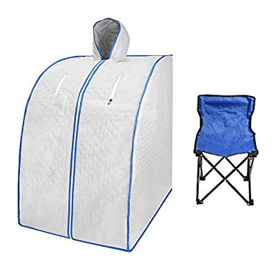 SEAAN Portable Far Infrared Sauna with Remote Control, Home Spa Detox Therapy, Upgrade Chair, Full Body Relax,Detox