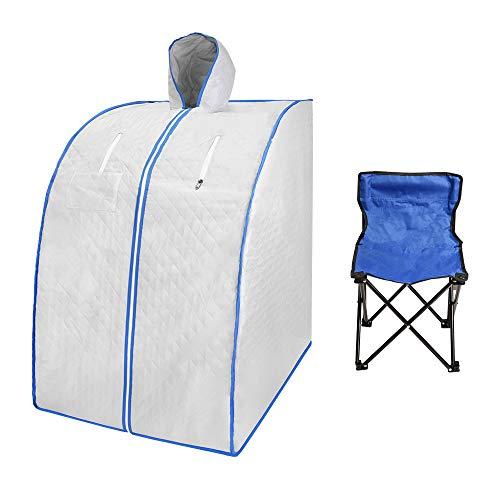 TOPQSC Far Infrared Sauna with Remote Control, Oversize Portable Home Spa Deto.x Therap.y, Upgrade Chair, Full Body Relax,De.tox