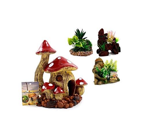takestop® Ornament, aquariumpinta met bloemenmotief, voor tuin en bureau-onderlegger