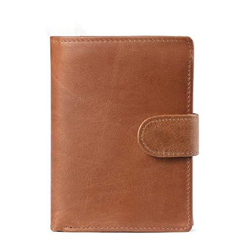 Mannen portemonnee multi-card beetje retro toevallige lederen portemonnee grote capaciteit clutch handtas 1 kortingskaart pakket wallet (Color : Brown, Size : 2063)