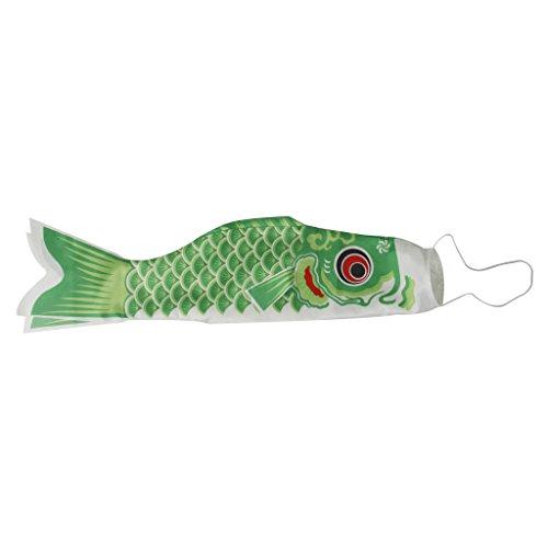 70cm Windsack Karpfen Flag Koinobori Segelfisch Fischwind Streamer Grün