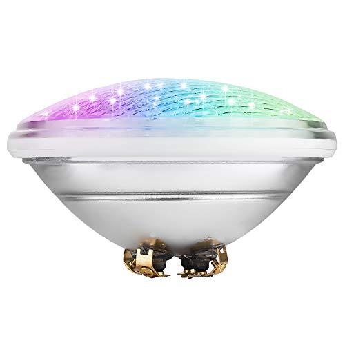 COOLWEST RGB 36W Lampe de Piscine Lumière LED PAR56 12V DC, Etanche IP68 Éclairage sous-Marin, Type de contrôle Externe, contrôle synchrone, Besoin avec contrôleur RF et télécommande (Non Inclus)