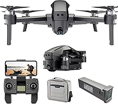 4DRC M1 GPS Drone with 5G Transmission WiFi 4K FHD Camera for Adults, Quadcopter with Brushless Motor, Auto Return Home, Follow Me, 30 Minutes Flight Time, Waypoints,Circle Fly,Includes Carrying Bag