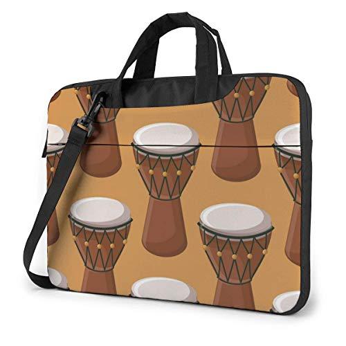 Türkisch-afrikanische traditionelle Trommel Erwachsene Student 15.6 in Laptoptasche Notebook Schutzhülle Handtasche Umhängetasche