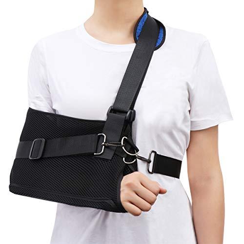 Healifty Armschlinge - Schulter Wegfahrsperre für gebrochene Knochen Arm Ellbogen Handgelenk Schulter Schlinge Medizinischer Gurt, Einstellbar, Linker und Rechter Arm(1PCS)