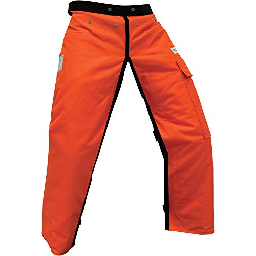Forester Chainsaw Safety Chaps with Pocket, Apron Style (Long 40', Orange)