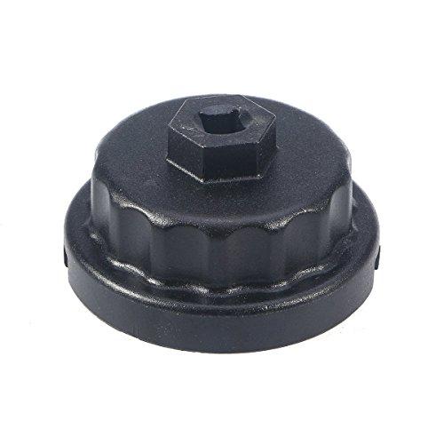 WINOMO Clé de filtre à huile pour Lexus RAV4 Highlander Toyota Tundra compatible avec les boîtiers de filtre à huile style cartouche.