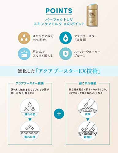 ANESSA(アネッサ)パーフェクトUVスキンケアミルクa日焼け止めシトラスソープの香り60mL