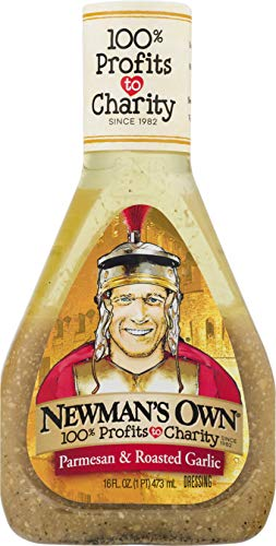 Newman's Own Salad Dressing, Parmesan & Roasted Garlic, 16-Ounce Bottles (Pack of 6)