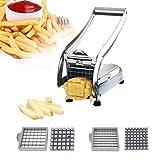 French Fry Cutter, Konren Potato Cutter Stainless Steel Potato Vegetable Slicer, Household Vegetable