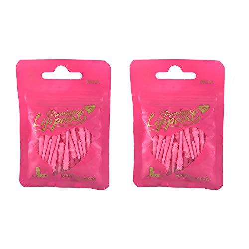 LSTYLE Dartspitzen: Premium Lippoint – 2er-Pack – 2BA Standard-Gewinde Soft Tip Dartspitzen – Pink
