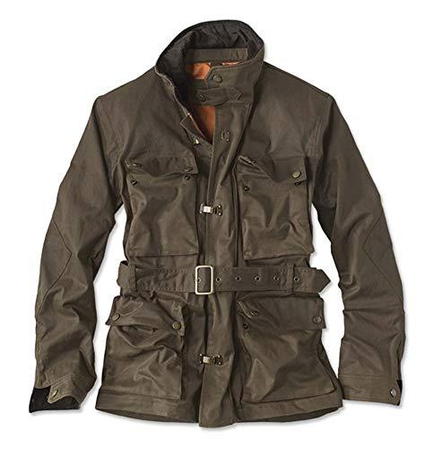 Orvis Men's Stretch Wax Moto Jacket, Large Brown