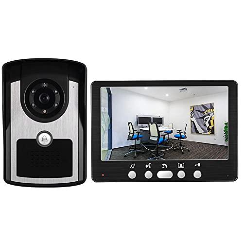 OUYA Timbre De Video con Cable IP55 Sistema De Acceso A Intercomunicador A Prueba De Agua, Soporte De Cámara IR con Visión Nocturna, Desbloqueo Controlado Electrónicamente