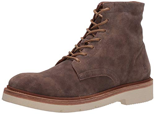Frye Men's Bowery LT Lace Up Combat Boot, faded grey, 10 M US