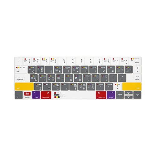 Slim Ableton Live Logic Pro X Avid Pro Tools Shortcut Keyboard Cover Skin For Macbook Pro Air Retina 13 15 17 Before 2016-MAC Grey 13 15 17-