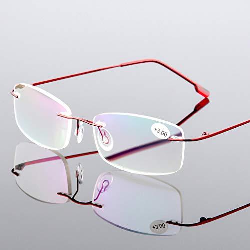 ZXXX rechthoekige leesbril - mannen en vrouwen mode lezers blauw licht blokkeren bril Anti Glare Computer Reader voor mannen en vrouwen (9 kleuren beschikbaar)