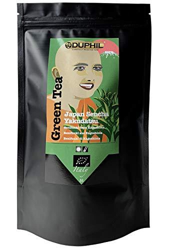 Duphil | Grüner Tee Bio Sencha Yakudatsu Benifuuki aus Japan, aromatischer loser Grüntee im Aromabeutel mit Zippverschluss | 200g