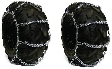 The ROP Shop Pair 4 Link Los Many popular brands Angeles Mall TIRE for Lawn Kubota Mo 29x12x15 Chains