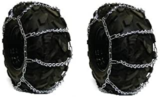 The ROP Shop 4 Link TIRE Chains 29x12.00x15, 22.5x12x9, 26x13x10 for Tractor Rider Snowblower