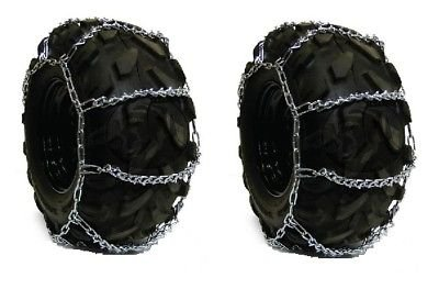 Affordable The ROP Shop Pair 4 Link TIRE Chains 22.5x12x9 fit Many Kawasaki Mule Teryx UTV Quad Vehi...