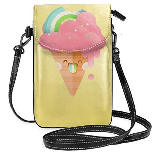 Handtasche für Damen, Mädchen, leicht, Erdbeeren-Regenbogen-Motiv, mit praktischem Tragen.